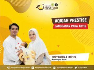Aqiqah Nurul Hayat bersama keluarga Ricky Harun & Herfiza